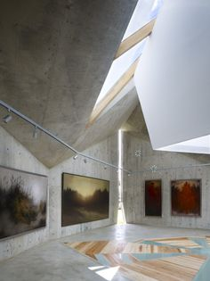 Mecenat Art Museum / naf architect & design. I like the combination of wood and concrete