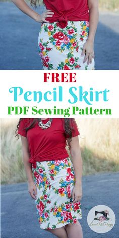 Free Pencil Skirt PDF Sewing Pattern from Patterns For Pirates