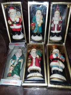 Vintage Set of 6 Memories Santa's by VintageBarnYard on Etsy