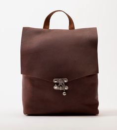 Wolfepack Leather Backpack | Hand-stitched with waxed cotton, this sleek leather backpack i... | Backpacks