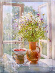 Букет на окне - Поздравительные открытки на все случаи жизни! - Bagima