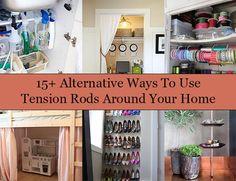 Alternative Ways To Use Tension Rods Around Your Home  http://www.homeandgardeningideas.com/alternative-ways-to-use-tension-rods-around-your-home/