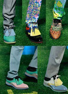 Prada Men's Golf Shoes - Prada Shoes Mens - Ideas of Prada Shoes Mens - Prada Men's Golf Shoes Mens Golf Fashion, Mens Golf Outfit, Golf Attire, Monk Strap Shoes, Prada Men, Leather Chelsea Boots, Prada Shoes, Ladies Golf, Women Golf