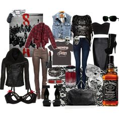 Sons Of Anarchy by kitttycait on Polyvore featuring polyvore, fashion, style, Levi's, GUESS by Marciano, Rick Owens, River Island, ONLY, MANGO and Bordelle