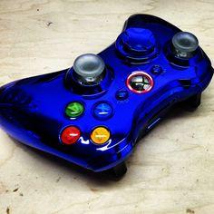 Blue Chrome Xbox 360 Controller - KwikBoy Modz #customcontroller #chromecontroller #moddedcontroller #xbox360 http://www.kwikboymodz.com/blue-chrome-xbox-360-controller/