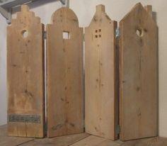 Amsterdamse grachten pandjes gemaakt van oud steigerhout. Zou leuk staan in het keukenraam in plaats van dat lelijke plakfolie