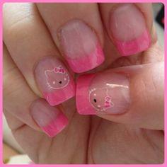 My Hello Kitty nails!