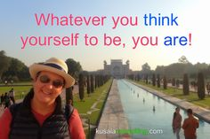 Whatever you think yourself to be, you are! #presence #awareness #recognition #feelthefeeling #speaker #consultant #kusalaconsulting #mindsetconsultant #oneononesessions #forextrader #digitalnomad #travel #india #agra