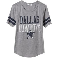 Old Navy Womens NFL Dallas Cowboy Tee ($22) ❤ liked on Polyvore featuring tops, t-shirts, shirts, blusa, jersey t shirts, striped short sleeve shirt, striped t shirt, t shirts and jersey shirts