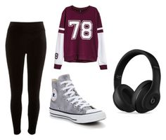 Untitled #19 by silverstars101 on Polyvore featuring H&M, River Island, Beats by Dr. Dre and Converse
