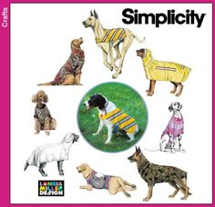 Purchase Simplicity 9520  Large Dog Coats and read its pattern reviews. Find other Pets sewing patterns.
