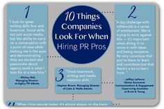 If you're looking for a job in PR, these quotes will give you a look into the mind of a hiring manager.