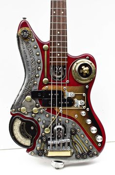Here is a Steam Punk custom bass found on an eBay Auction. I wonder how it sounds. I just looks super cool!