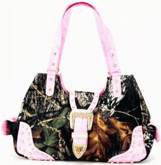 Pink and Camo purse