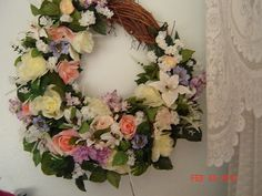 Large Spring Wreath Summer Wreath Front Door Wreath Flower Wreaths Beautifull   eBay