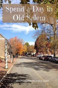 Travel tips for how to spend the day in Old Salem, North Carolina. Enjoy this look at early American history in a Moravian town near Winston-Salem, North Carolina Winston Salem North Carolina, North Carolina Homes, South Carolina, North Carolina History, Greensboro North Carolina, Vacation Places, Places To Travel, Places To See, Vacation Ideas