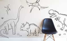 "Hand drawn forest - Die Cut Decal - WALL DECAL Entire Design measures 125""w x 35""h Fully removable and reusable wall decals that will brighten and add character to any room. **PLEASE NOTE THAT METALLI"