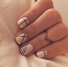 Lines Are A Minimalist Yet Graphic Way To Add Personality Your Manicure Shares Miss Pop An Nyc Based Editorial Nail Artist And Runway Pro