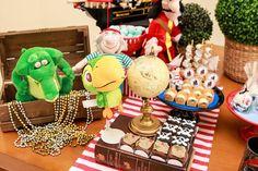 Olha que linda Festa Jake e os Piratas!Imagens Party Charm.Lindas ideias e muita inspiração.Bjs, Fabíola Teles.           Mais ideias lindas: Party Charm....
