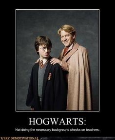 Seriously, get your act together Hogwarts! Although, we did have a good laugh at Gilderoy, didn't we? :P