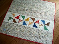 Blue is Bleu: A Pinwheel Quilt for Maura Jane - quilt back idea!