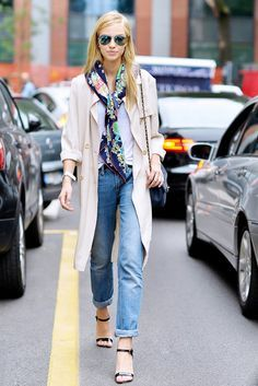 street style scarf - Google-Suche
