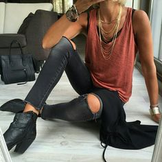 16 Outfits para verte guapísima con skinny jeans negros - Look - Summer Outfits Mode Outfits, Casual Outfits, Fashion Outfits, Womens Fashion, Edgy Fall Outfits, Ladies Fashion, Fashion Ideas, Woman Outfits, Club Outfits