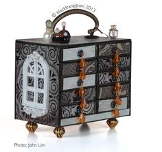 blackfrangipani miniature matchbox chest