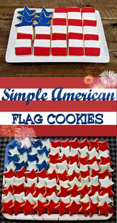 Memorial Day Flag Cookie Platter - 16 Best Memorial Day Party Food Ideas | GleamItUp