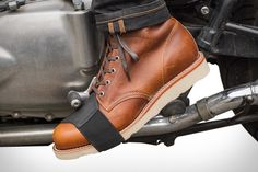Sometimes simple problems have simple solutions. Take the Shifter Boot Protector for example. It goes over your shoes, keeping your footwear from getting scuffed or marred by your bike's shifter. Made from leather with an elasticized strap to fit over...