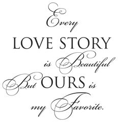 Family Wall Decal Love Saying Home Decor Great Gift Every Love Story... $21.00, via Etsy.