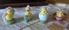 Vintage Miniature Resin Easter Chick Ornaments by vintagecornucopia on Etsy