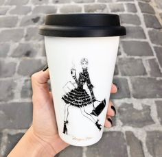 Coffee Love, Coffee Cups, Megan Hess Illustration, Kerrie Hess, Coffee Cup Design, Fiesta Decorations, Personal Shopping, Fashion Images, Travel Mug