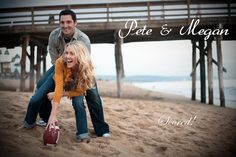 Cute, since Brandon loves football.  I could see us wearing buccs outfits. #engagement #photography #football