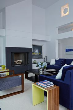 design, Clarence Coffee Table in contemporary room setting featuring Stark carpet. Living Room New York, Blue Furniture, Sherrill, Furniture, Room Set, Contemporary Living Room, Interior Design Services, Contemporary Room, Contemporary