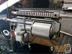 The Six12 revolver shotgun from Crye Precision can be mounted on your current AR but is also available as a standalone option. This replaces the pump action alternative and the double action magazine has a capacity of six 3″ 12 gauge rounds. An integrated system like this solves the problem of switching between weapons systems when breaching and making entry.