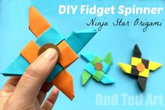 Oh wow if need to learn how to make a fidget spinner out of paper, you HAVE To check out this paper Ninja Fidget Spinner DIY, it is so cool and easy.