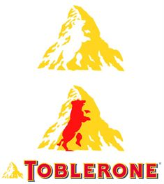 Once you see it, you can't unsee it. The Toblerone bear.