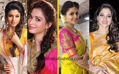 The hairstyles that you opt with silk sarees must go well with your entire look. Best hairstyles with traditional sarees, kanjeevaram saree Indian Hairstyles For Saree, Saree Hairstyles, Pretty Hairstyles, Easy Hairstyles, Girl Hairstyles, Short Hairstyle, Simple Bridal Hairstyle, Easy Wedding Guest Hairstyles, Short Wedding Hair