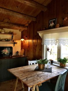 Building A Cabin, Tiny Cabins, Cabin Interiors, Sitting Rooms, Rustic Charm, Hygge, Dining Room, Aesthetics, Merry