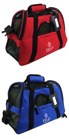 6145f6cde955 Carriers and Totes 177788  Pet Carrier Cat Dog Airline Approved Fleece Bag  Small Blue Red