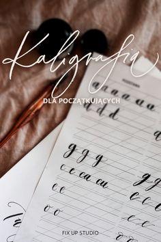 ćwiczenia kaligrafii, arkusze do wydrukowania w domu, polecenia materiałów - wszystko, żeby pomóc w Twojej nauce kaligrafii nowoczesnej. naucz się pięknie pisać! 2018 Planner, Motivation, Studio, School, Studios, Inspiration