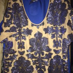 Beautiful beaded blouse ! BNWT Neiman Marcus by Target size on tag is XXL but fits like a XL*comes with extra beads* Neiman Marcus Tops Blouses