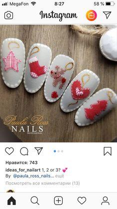 Chrismas Nail Art, Christmas Nails, Nail Stuff, Summer Ideas, Winter Nails, Nails Design, Masks, Hair Beauty, French