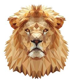 Time to hair cut by indyvisual design lab., via behance illu Art And Illustration, Polygon Art, Lion Art, Animal Faces, Art Plastique, Animal Design, Geometric Art, Lions, Graphic Art