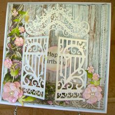 Gated Happy Birthday by bellarosa - Cards and Paper Crafts at Splitcoaststampers 50th Birthday Cards, Birthday Images, Birthday Quotes, Birthday Greetings, Birthday Wishes, Mom Cards, Cute Cards, Quilling, Heartfelt Creations Cards