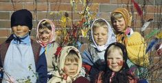 Finland. Virpominen or Palm Sunday is celebrated by decorating twigs.