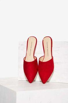 Rowan Slip-On Flat - Red