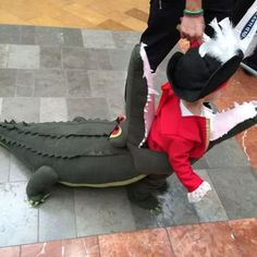 Captain Hook Getting EATEN by Tick Tock Croc : 7 Steps (with Pictures) - Instructables Diy Baby Costumes, Disney Costumes, Diy Halloween Costumes, Halloween 2020, Halloween Ideas, Costume Ideas, Halloween Decorations, Alligator Costume, Crocodile Costume
