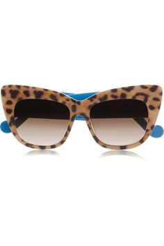 ANNA-KARIN KARLSSON Alice Goes to Cannes cat eye leopard-print acetate sunglasses